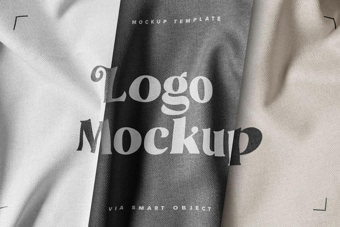 Fabric Print Logo Mockup Set