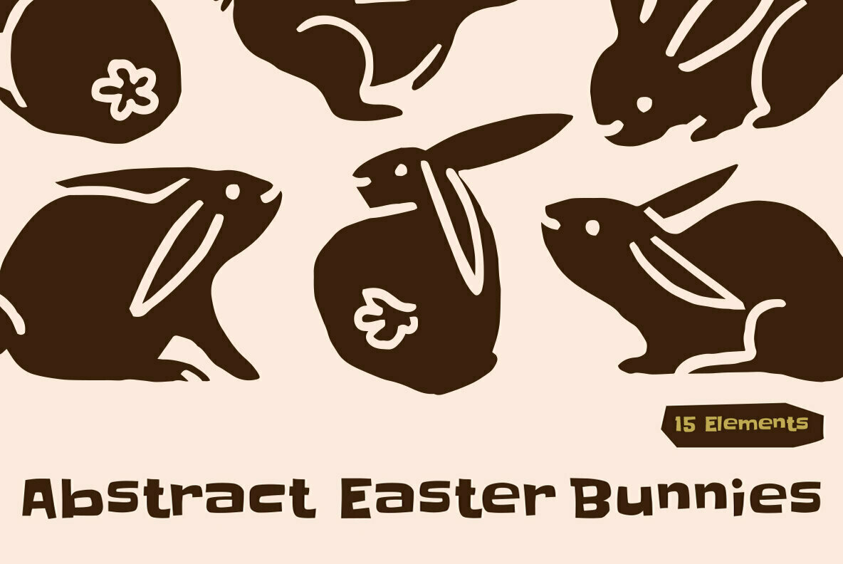 Abstract Easter Bunnies