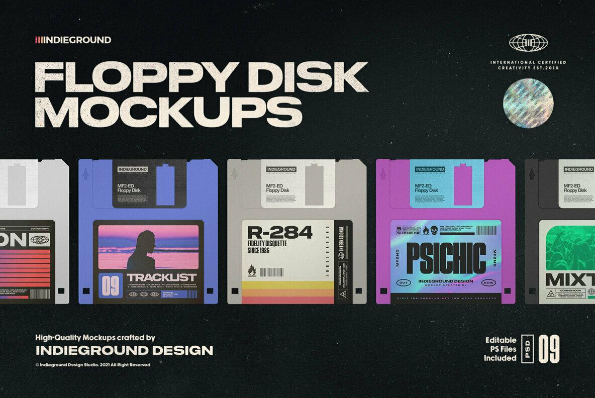 Floppy Disk Mockups