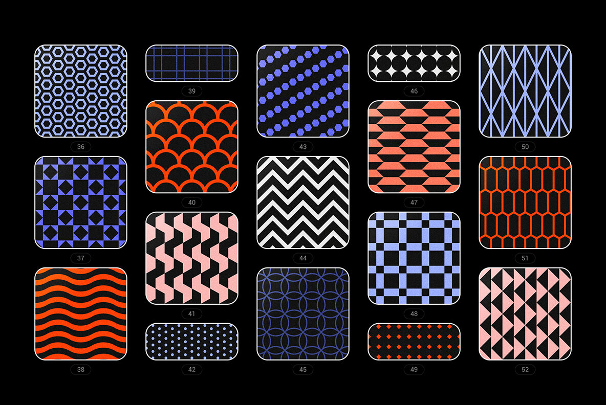 Vibrant Geometric Seamless Patterns Collection
