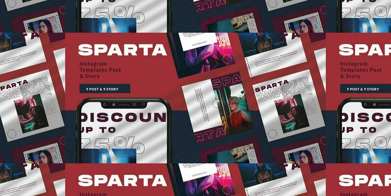 Sparta Instagram Template
