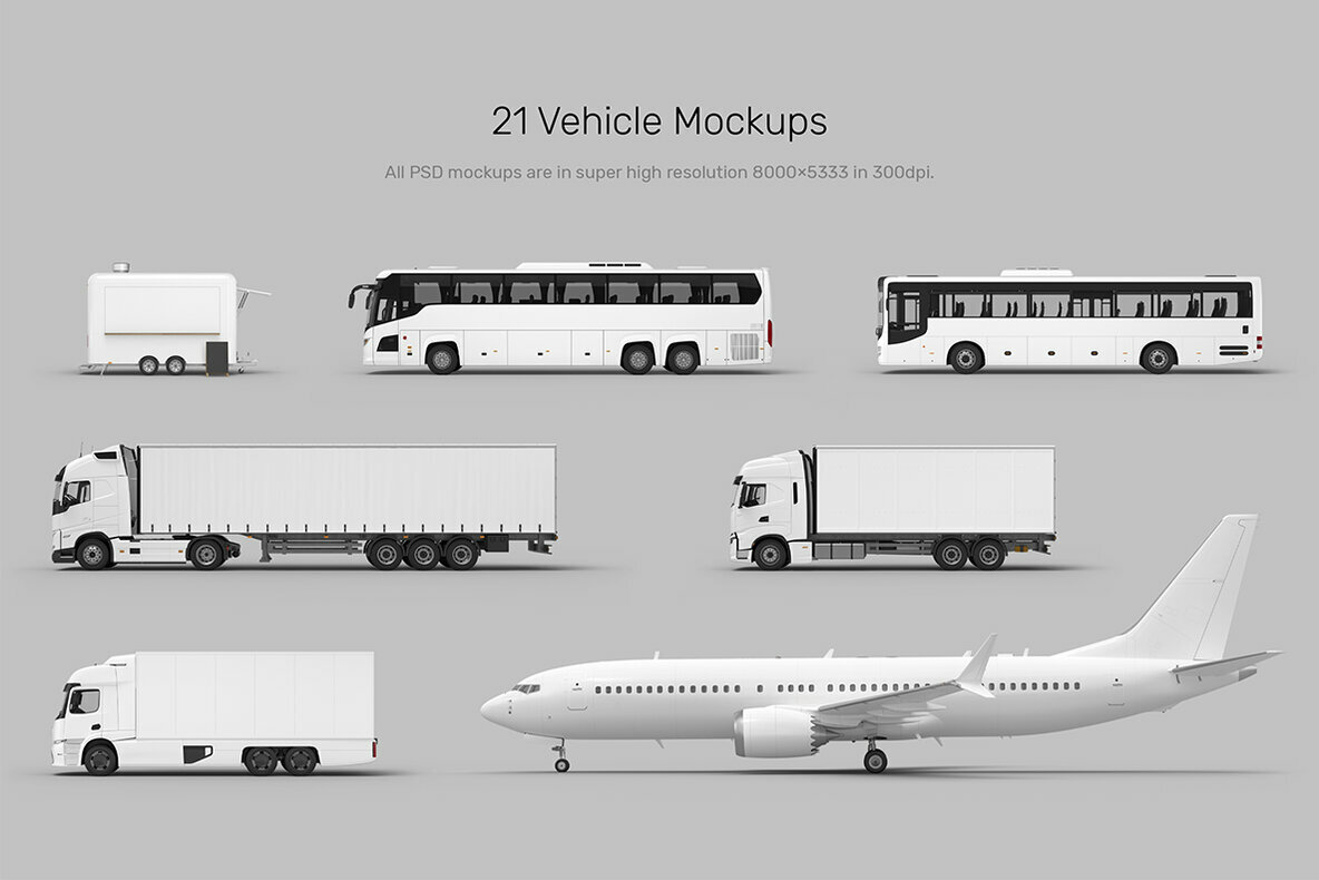 Vehicle Mockups   Car   Plane Mockups