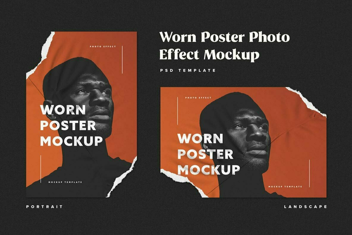 Ripped Paper Poster Mockup Set