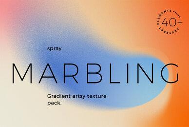 Spray Marbling