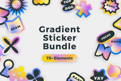 Gradient Sticker Bundle