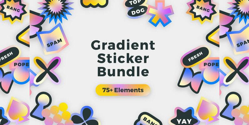 Gradient Sticker Bundle