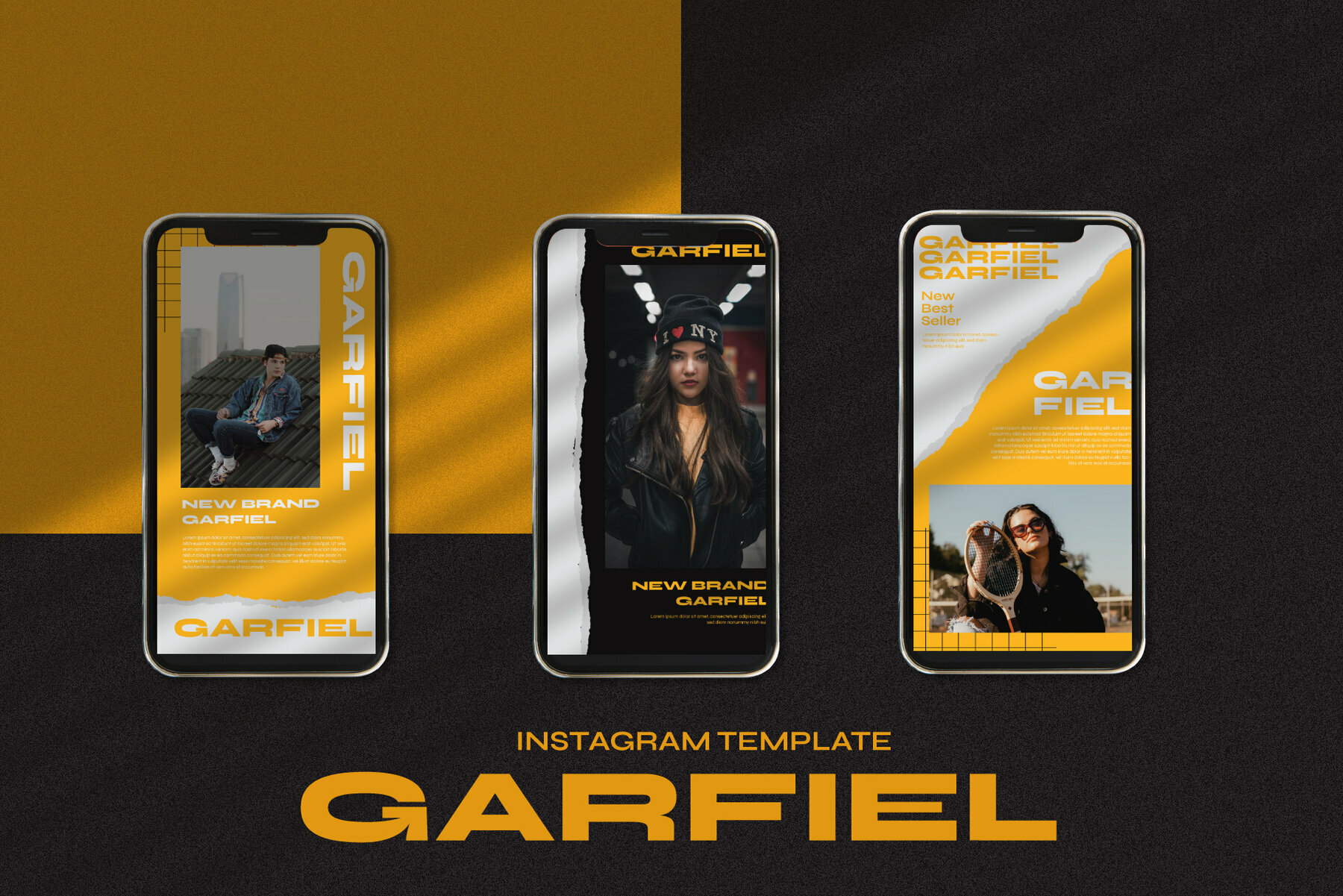 Garfiel Instagram Template