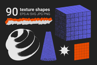 90 Vector Texture Shapes