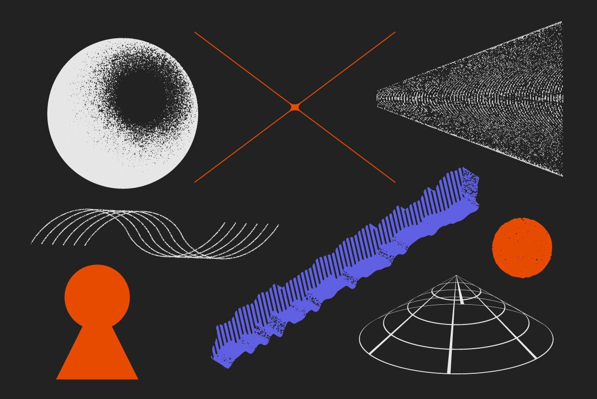90 Vector Texture Shapes