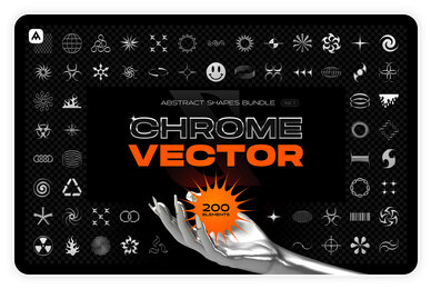 Chrome  Vector Abstract Shapes Bundle