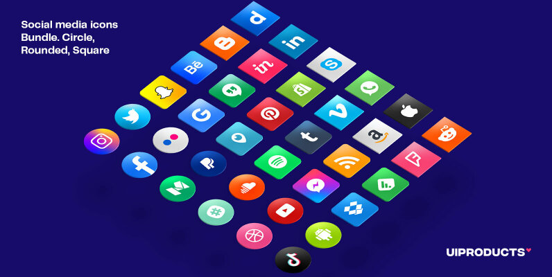 Social Media Icons Bundle