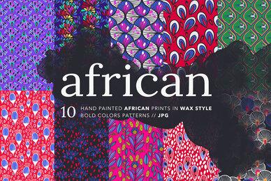African Ankara Wax Patterns Set