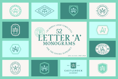 52 Letter A Monograms