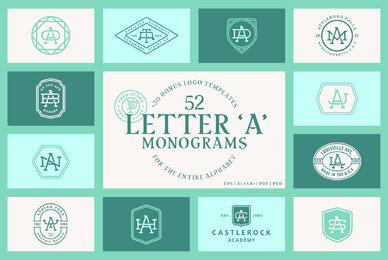 52 Letter A Monograms