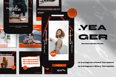 Yeager Instagram Template