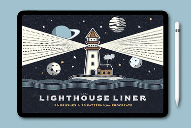 Lighthouse Liner Procreate Brushes