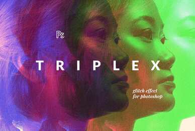 Triplex Glitch Photo Effect