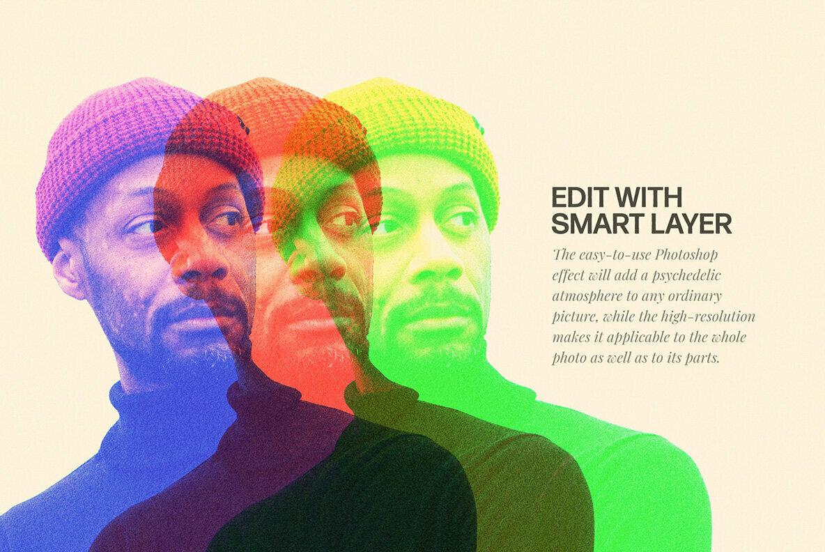 Triplex Glitch Photo Effect