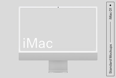 iMac 01 Standard Mockup