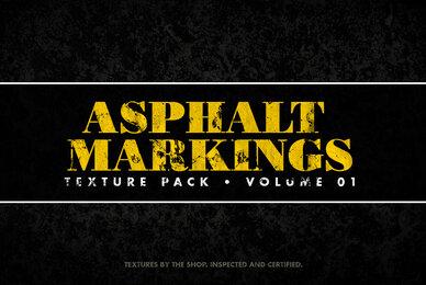 Asphalt Markings Textures Volume 01