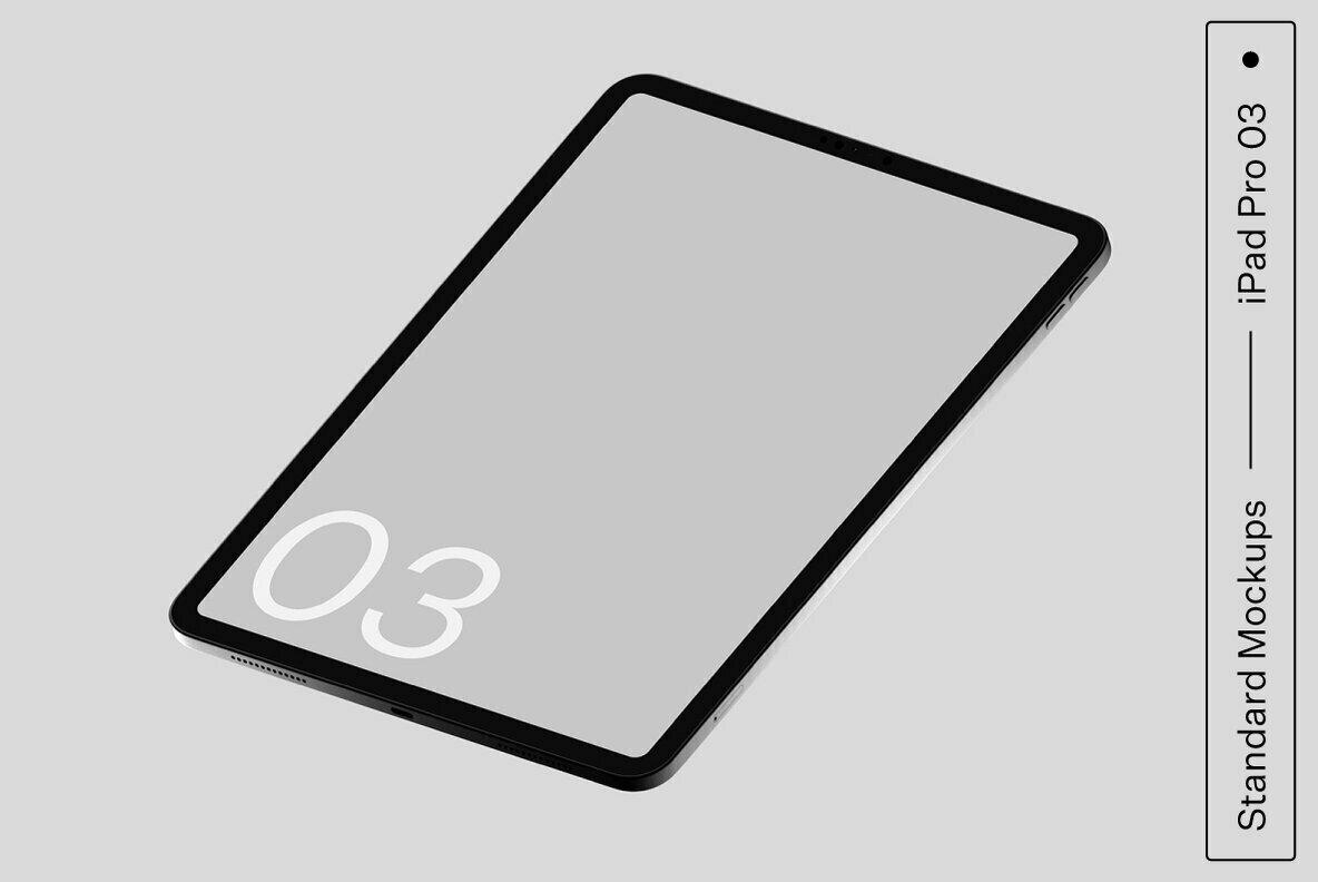 iPad Pro 03 Standard Mockup