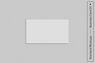 Business Card 01 Standard Mockup