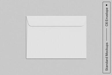 C6 Envelope Standard Mockup