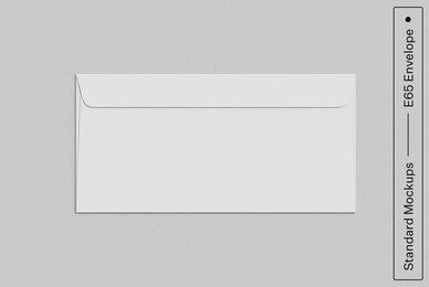 E65 Envelope Standard Mockup