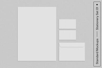 Stationery Set 01 Standard Mockup