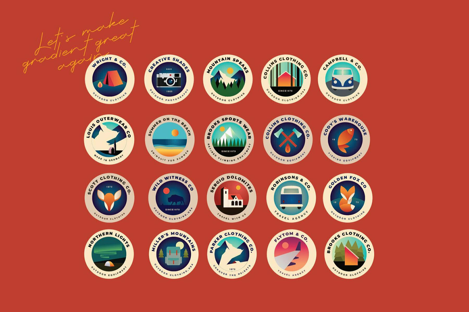 20 Outdoor Badges