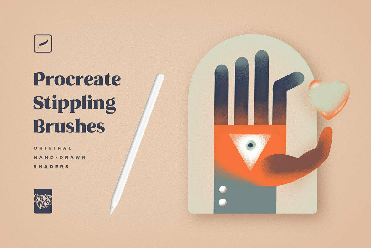Procreate Stippling Brushes Kit