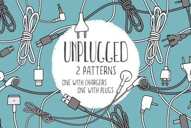Unplugged   Two Seamless Patterns