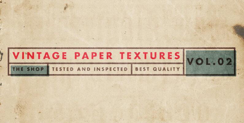 Vintage Paper Textures Volume 02