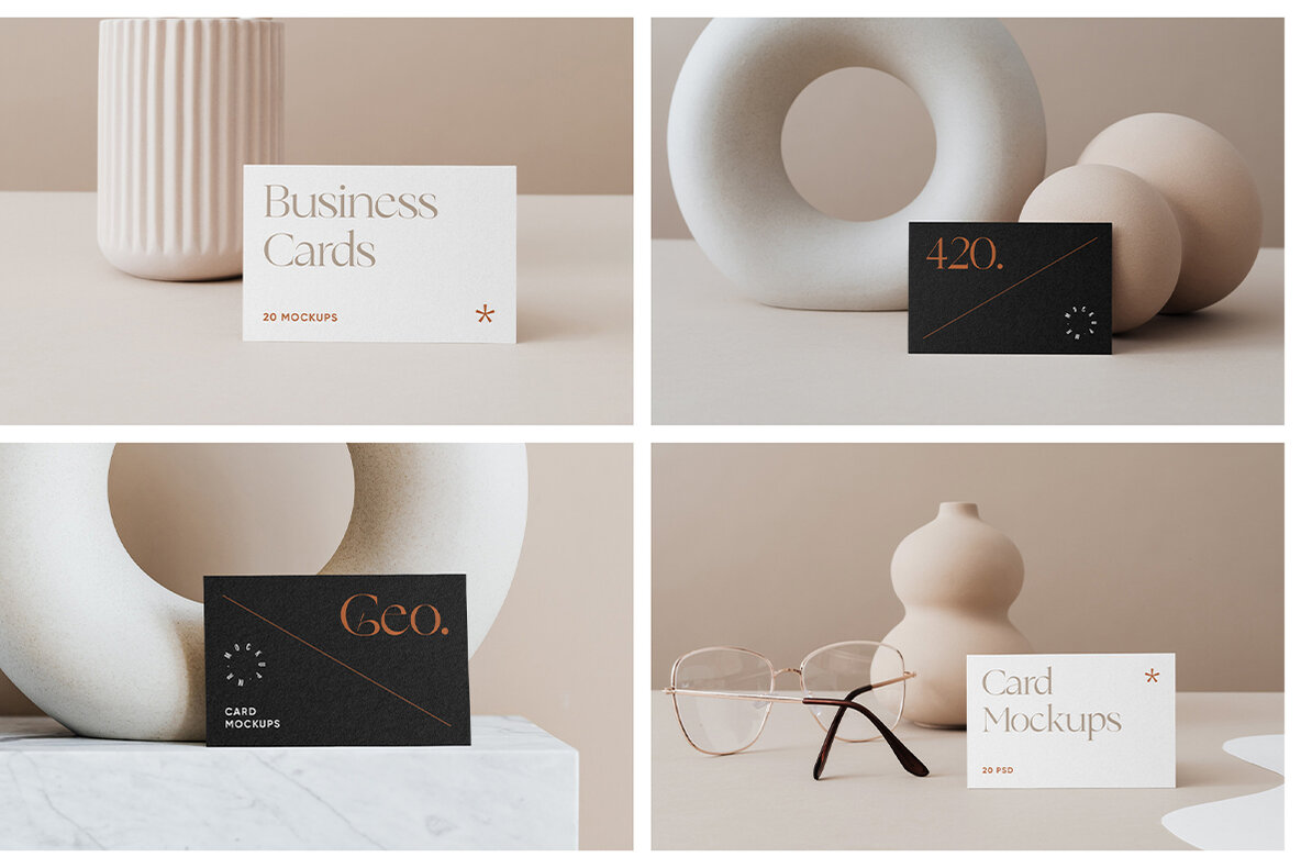 Business Card Mockups Vol 1