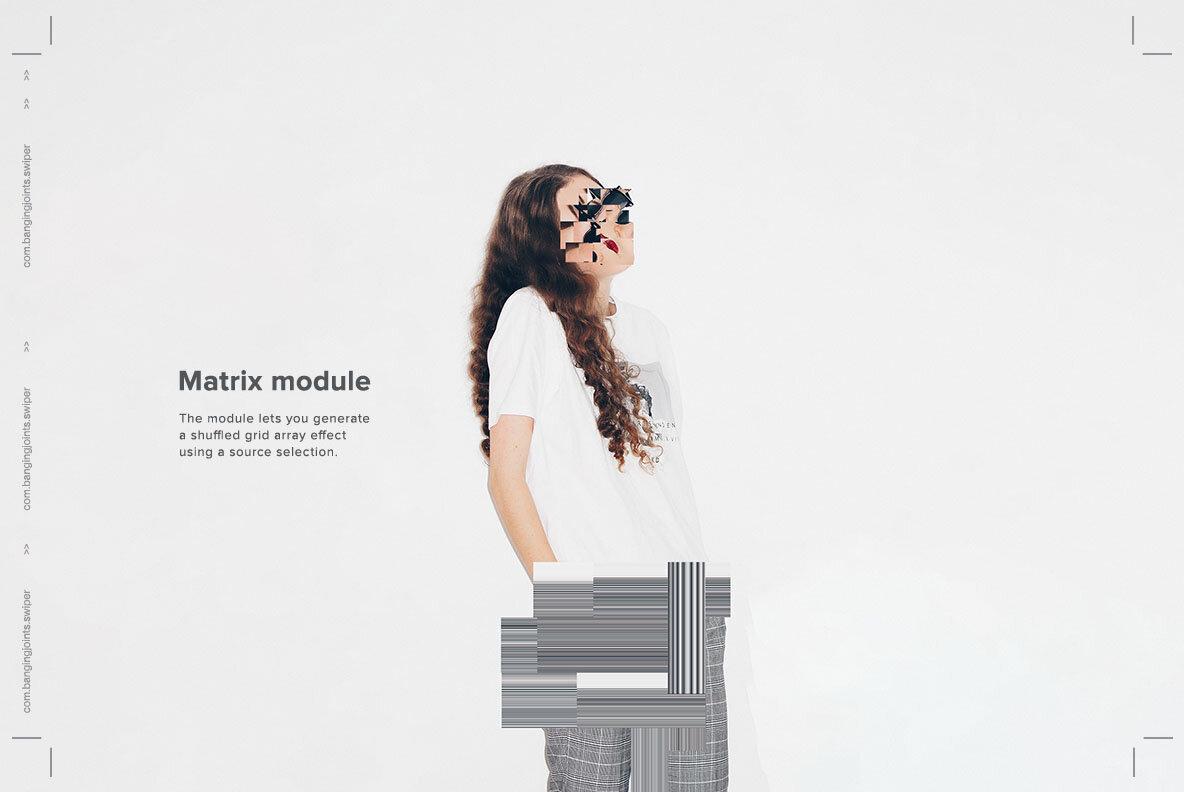 Matrix Swiper   Animation PS Plugin