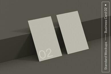 Business Card 02 Standard Mockup