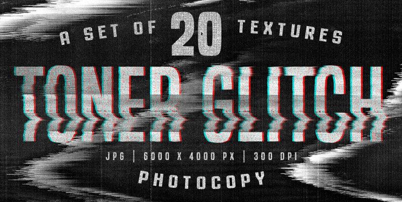 Toner Glitch Photocopy Textures