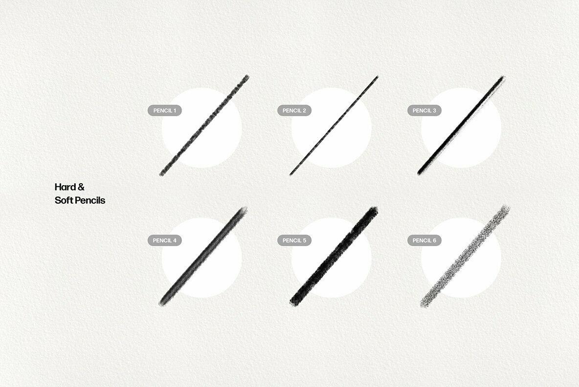 Basic Pencil Procreate Brushes
