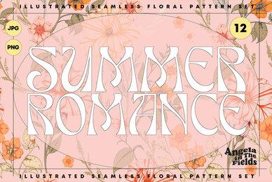 Summer Romance Vintage Floral Patterns
