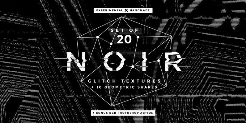 Noir Glitch Textures