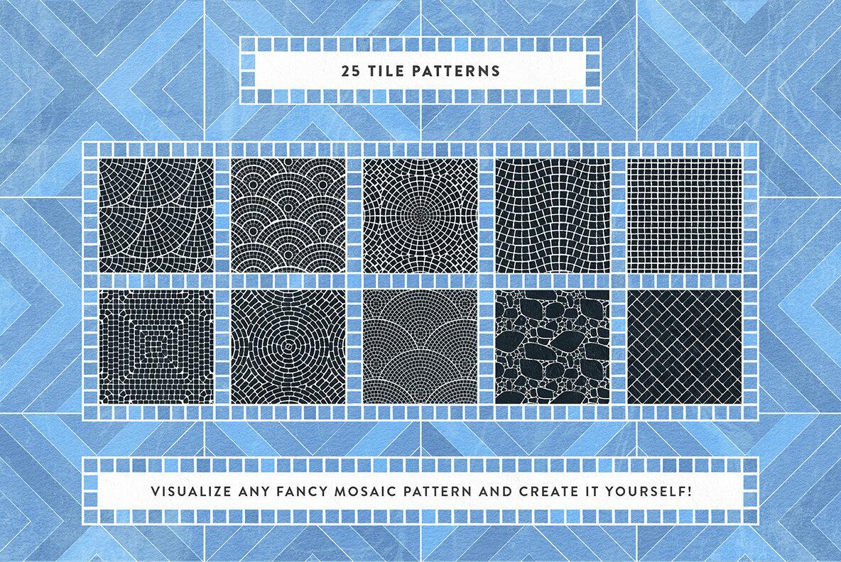 Mosaic Illustrator Tile Brushes