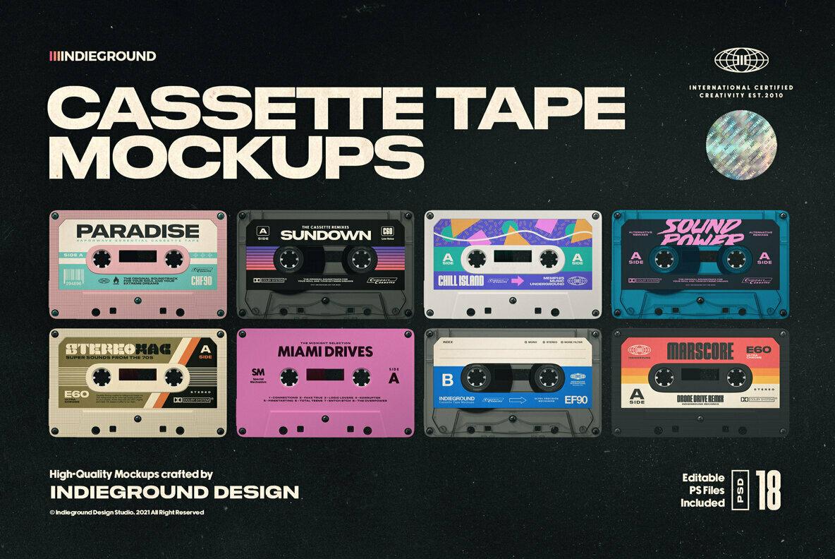Cassette Tape Mockups