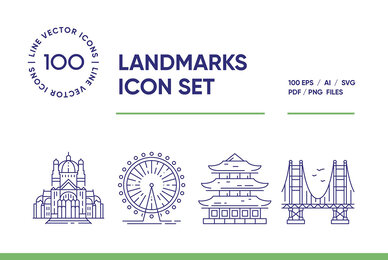 Landmarks Icon Set
