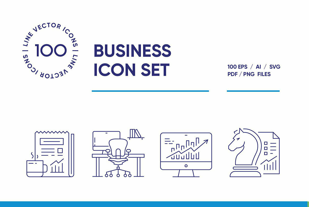 Modern Business Icon Set