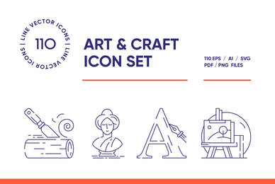 Art and Crafting Icon Set
