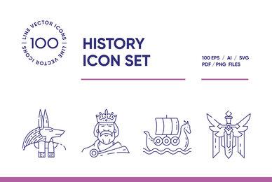 History Icon Set