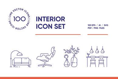 Interior Design Icon Set