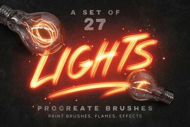 Lights Procreate Brushes