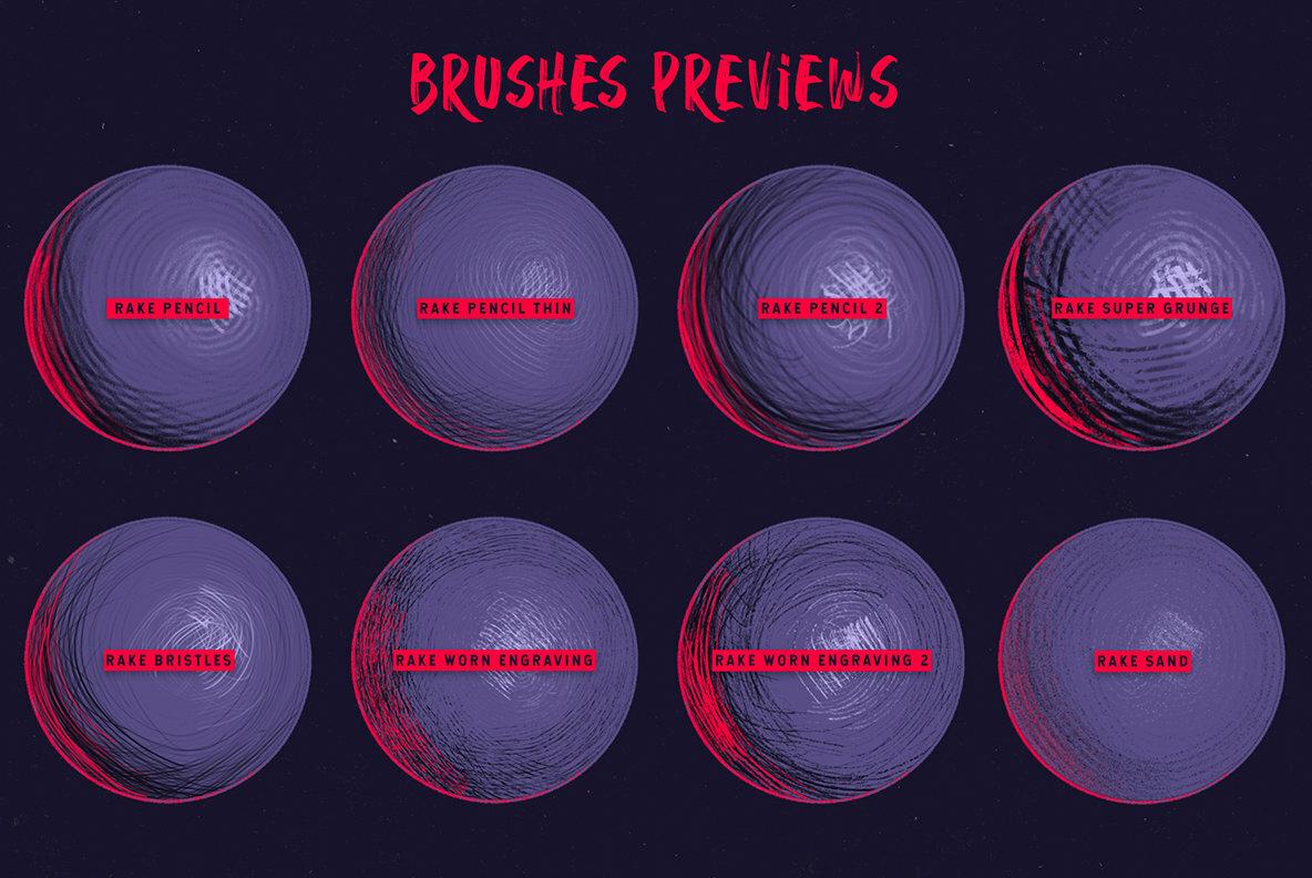 Rake Procreate Brushes