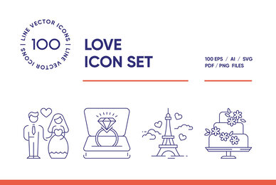Wedding and Love Icon Set